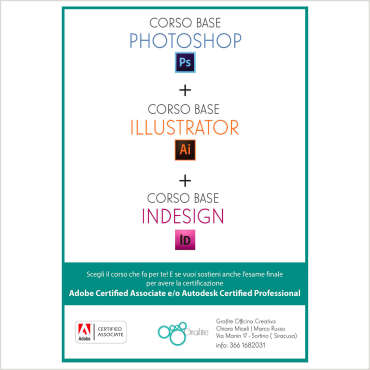 Corsi certificati di Adobe Photoshop-Illustrator-InDesign
