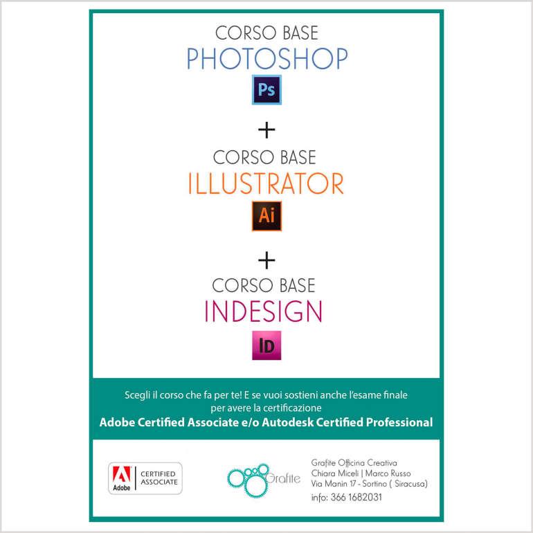 Corsi certificati di Adobe Photoshop-Illustrator-InDesign