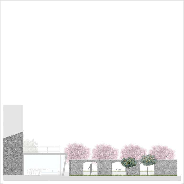 Sezione materica – scala 1:200