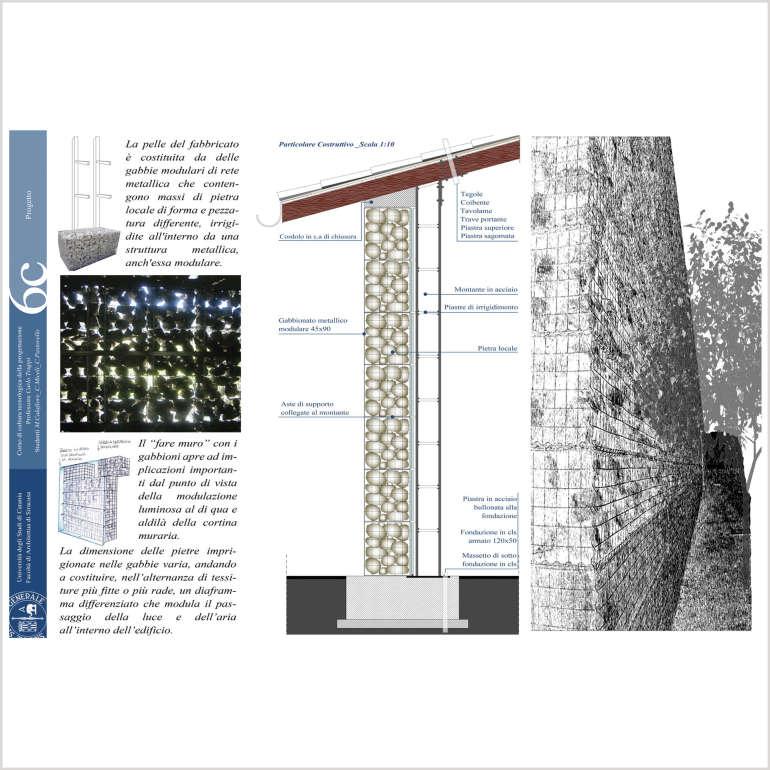 Impaginazione tavola di architettura