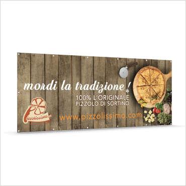 Banner in pvc per l'azienda Pizzolissimo – Sortino