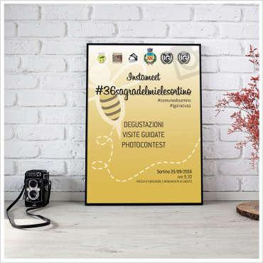 Manifesto pubblicitario Instameet 36 Sagra del Miele Sortino