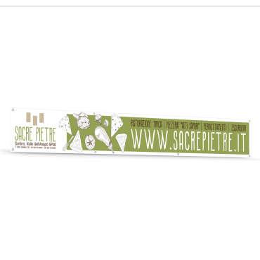 Banner in pvc per la Pizzeria Sacre Pietre – Sortino